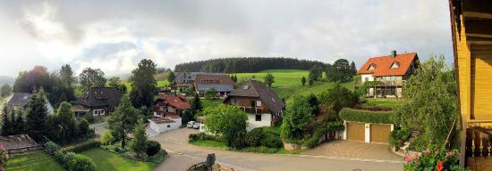 Haus Hubertus: Panoramic (4 photos) view from one of the rooms
