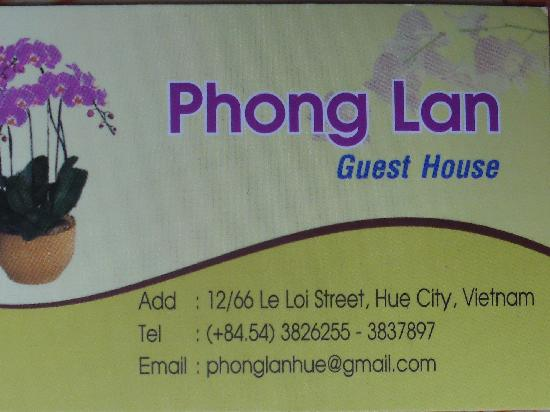Phong Lan (Wild Orchid) Guesthouse: Address, Tel , Email