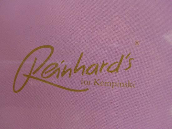 Reinhard's am Kurfurstendamm: La carte