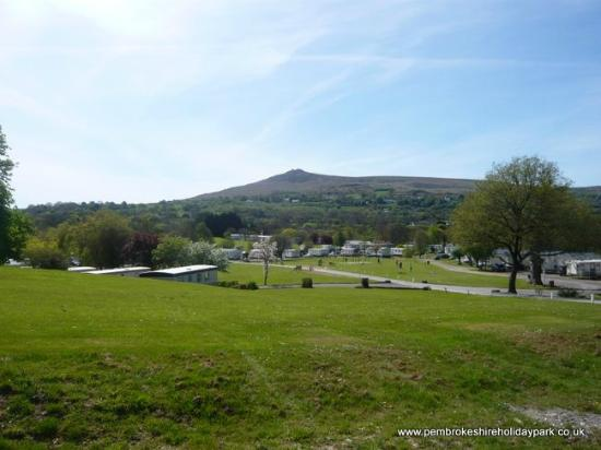 Newport -Trefdraeth, UK: View of Carn Ingli from outside the manor
