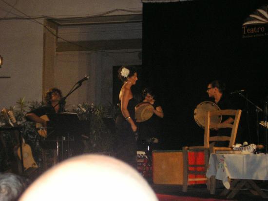 Teatro Ditirammu: momento de la actuación