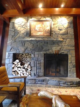 Fox Hotel & Suites: ロビーの暖炉