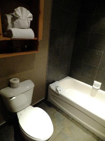 Fox Hotel & Suites: バスタブはちょっと小さめ