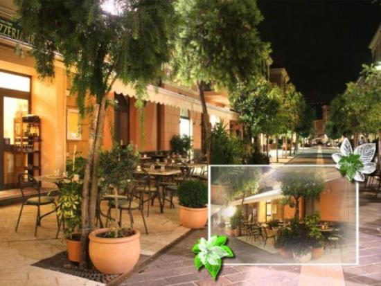 Da Severino: Il dehor, situato nella stupenda via pedonale di Diano Marina.