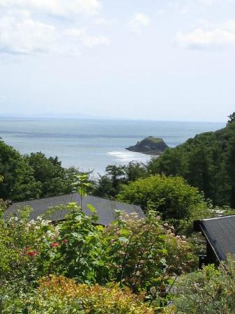Saundersfoot, UK: View over Lodges towards Monkstone
