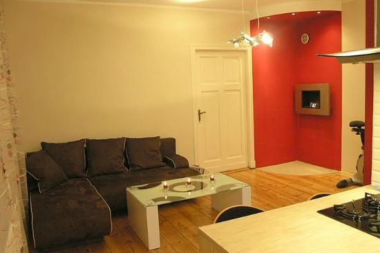 Vistula Apartments: Living room