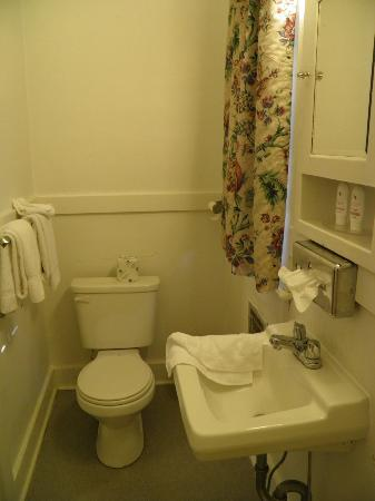 Mammoth Cave Hotel: Bathroom inside the cottage