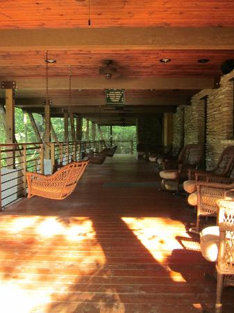 Evins Mill: Another view of the porch
