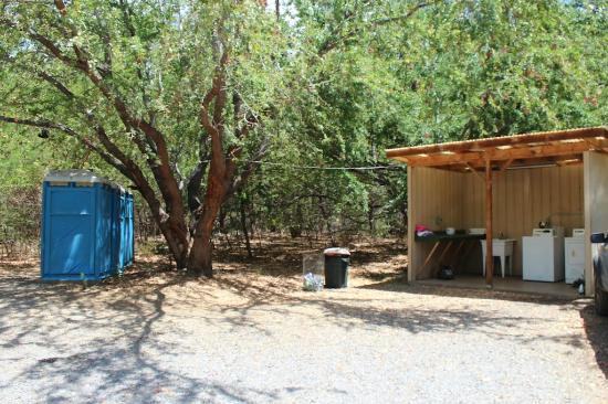 Camp Olowalu: Washer & Dryer and charging station-bathrooms