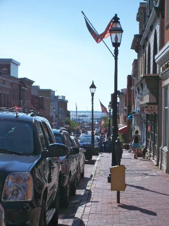 Historic Inns of Annapolis: View from the hotel down the street