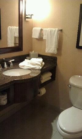 Atlanta Marriott Buckhead Hotel & Conference Center: Plenty of towels..more on the other side