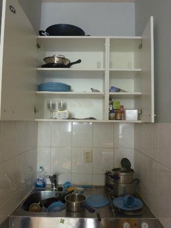 Keizersgracht Apartments: minicocina:hornillo y minifrigo