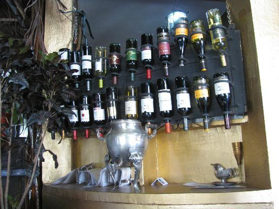 The Marquis: wine selection