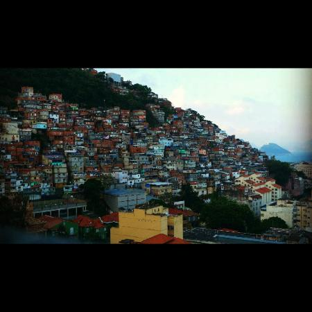 Pousada Favela Cantagalo: View from the top floor- breakfast is served here