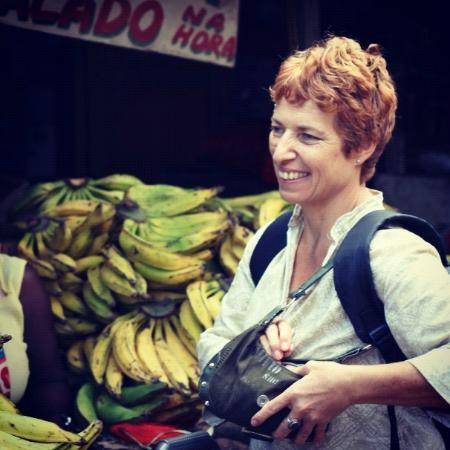 Pousada Esmeralda: The beautiful Host- Nathalie- She took us to the local markets with her!