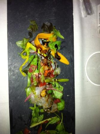 Il Sole Di Ranco: joli ce plat de poissons crus qui sent la vase et l'huile de friture : typique de l'endroit.
