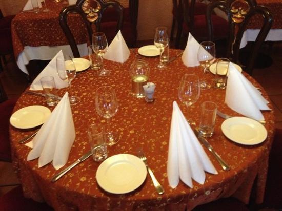 India Tandoori: dekket bord