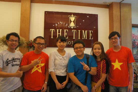 The Time Hotel: With our bubbly and helpful receptionist, Hanh!