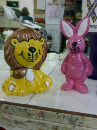 Craft daft: Lion and Bunny.