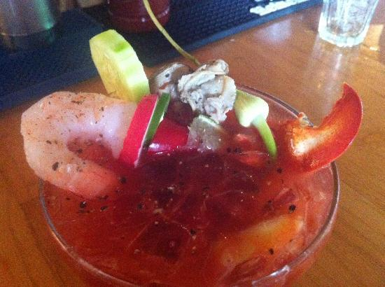 Red Jacket Seafood Restaurant & Lounge: Is that Lobster, Clam and Shrimp in this Bloody Mary???