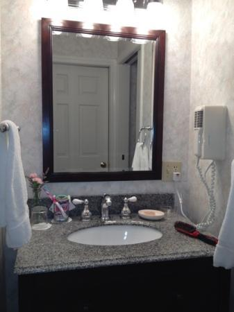 The Bayview: nice clean sink and granite sinktop in one of the 2 downstairs bathrooms (Townhome)