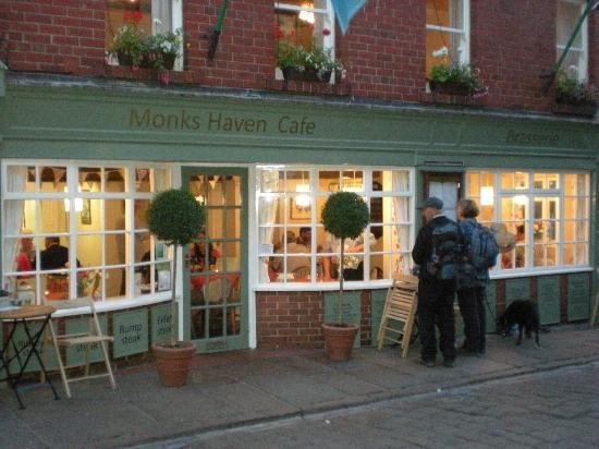 Evening time at Monks Haven Cafe Whitby