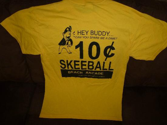 T-shirt I won for HIGH score on Skee Ball at Beach Arcade