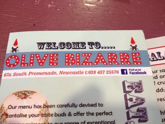 Olive Bizarre: extensive menu