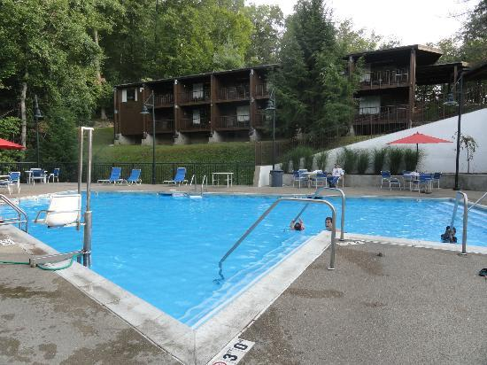 Jenny Wiley State Resort Pool With Fenced In Wading Next To It