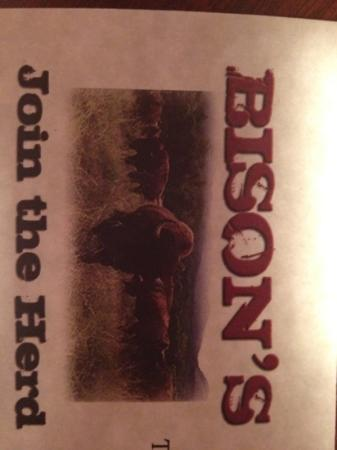 Bison's Bar & Grill: Join the herd.
