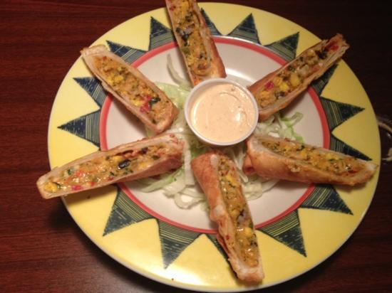 Bison's Bar & Grill: Southwestern Style Egg Rolls