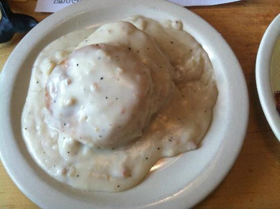 Old Farm House: Half order of biscuits and gravy (~$5)