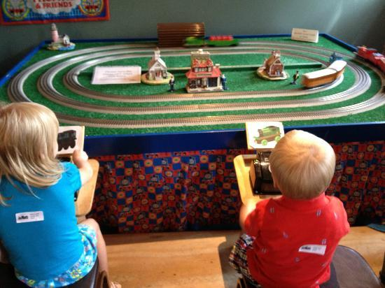 Twin City Model Railroad Museum: Our kids controlling Thomas & friends