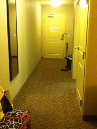 Sleep Inn & Suites: double queen room entrance