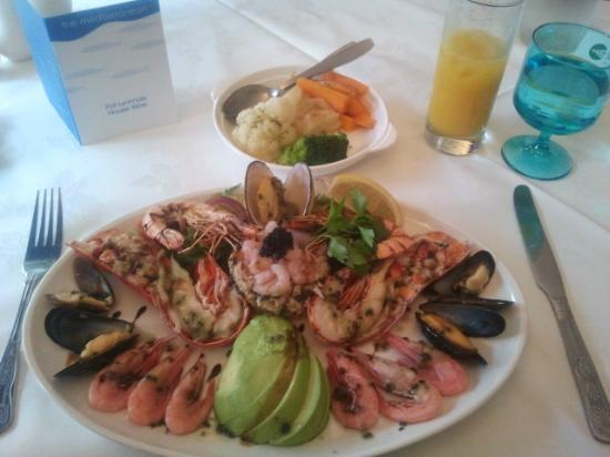 Mediterranean: Lobster and seafood platter