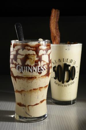 Guinness Mint Chocolate Milkshake and Maple Bacon Shake. - Picture of ...