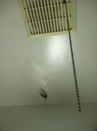 filthy vent and hole in ceiling- part of the luxurious accommodations at The Atlantic!!!