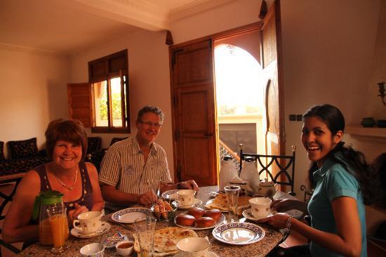 Villa Latifa: Fabuloso desayuno ;-)