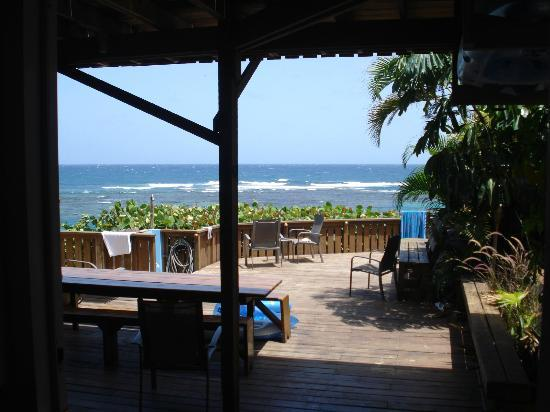 Villa Tropical Oceanfront Apartments on Shacks Beach: View fron the room