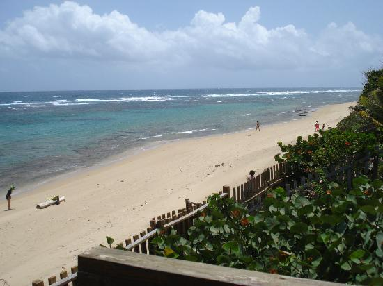Villa Tropical Oceanfront Apartments on Shacks Beach: Right view from deck
