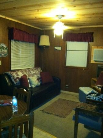 Lakeside Resort Restaurant & General Store: Living area Cabin 3