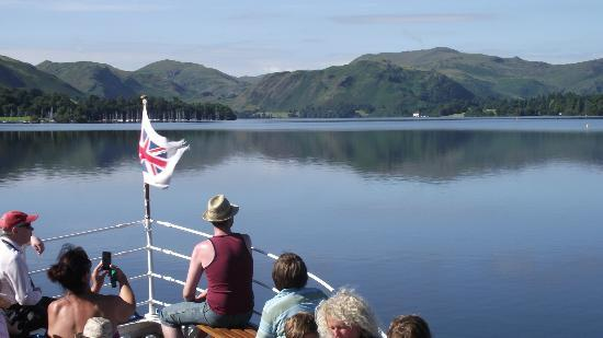 Ullswater Steamers: View from the front of the steamer