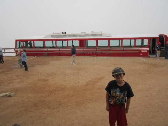 Manitou Springs, CO: We went up into a cloud as you can see....