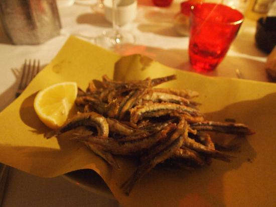 Ristorante a Scibretta: Il meraviglioso fritto di acciughe