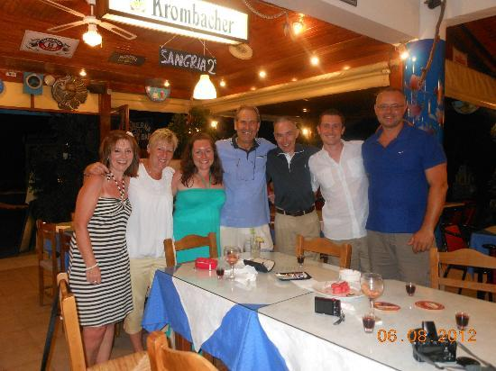 Restaurant Pink Flamingo: Our last night in Crete, George in the middle