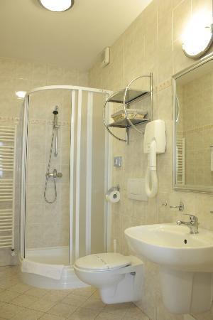 Hotel Pod Vezi: Pod Věží Depandance - bathroom with standing shower