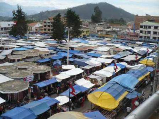 Buena Vista: view of market from the terrace