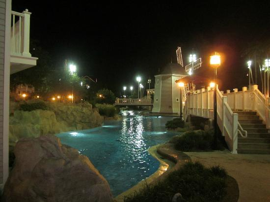 Disney's Beach Club Resort: pool at night