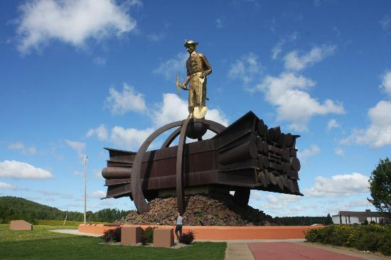 Iron Man Statue: Big Iron - building our modern world happened because of these miners.