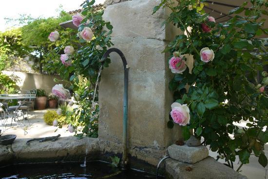 La Bastide de Boulbon: Beautiful fountain at hotel 